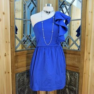 French Connection One shoulder dress